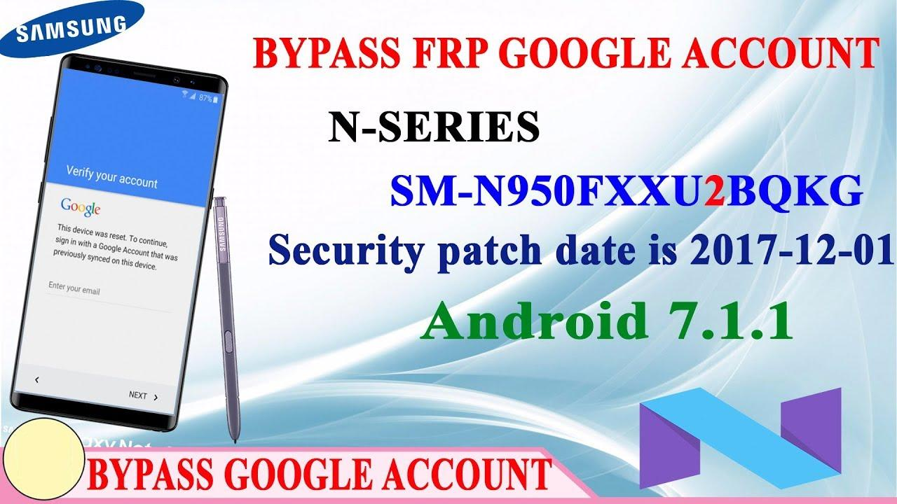 How Bypass FRP Google Account Samsung Galaxy Note 8 Android