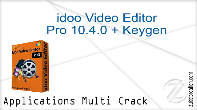 idoo Video Editor Pro 10.4.0 + Keygen |   34.2 MB