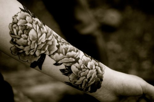 Black And White Flower Tattoos On Wrist: Flower Wallpapers
