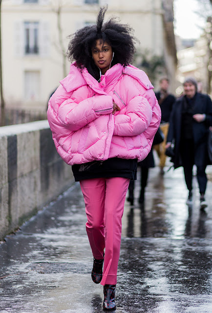 julia sarr jamois, pink outfit, fall 2016, street style, spring 2016, trends, fashion week, NYFW, PFW, LFW, new york fashion week, paris fashion week, london fashion week