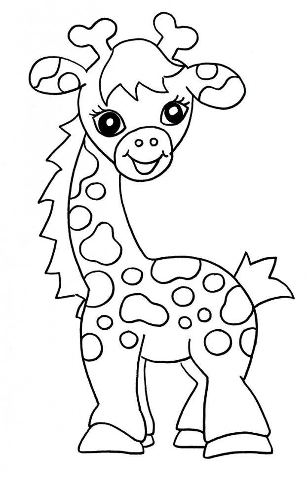 Mi coleccin de dibujos Jirafas infantiles para pintar