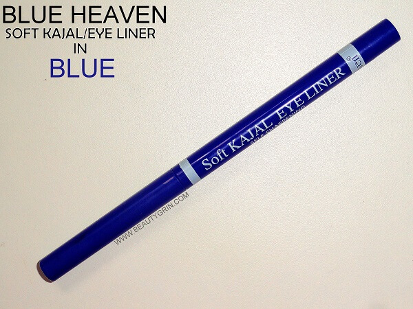 Blue Heaven Kajal/Eye Liner in Blue : Review, Price Online in India and Swatches
