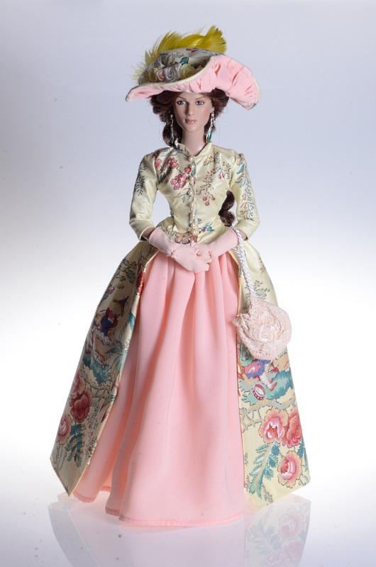 XVIII-wieczna suknia dla lalki Tonner.