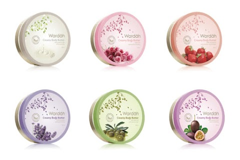 Review Wardah Creamy Body Butter - Strawberry and Milk & Pearl