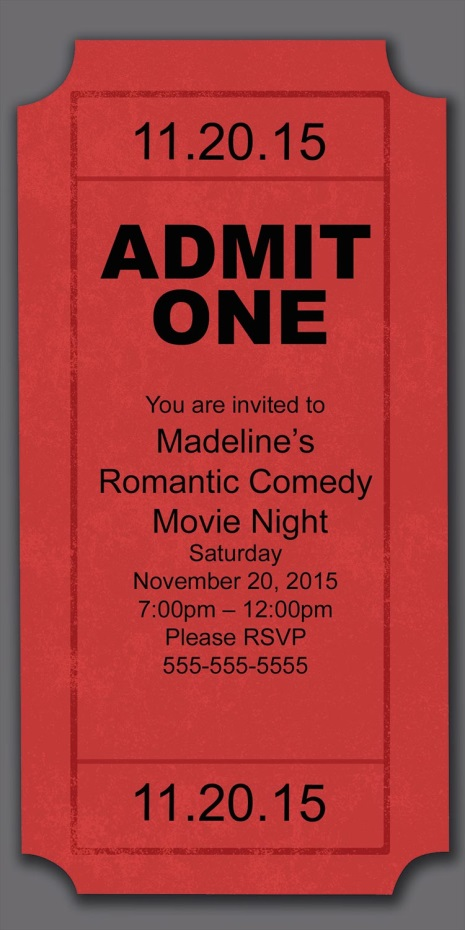 August 2013 - create your own movie ticket