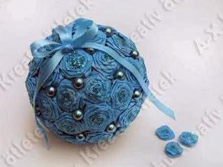 Jenis Kerajinan Tangan Dari Kertas, Bola Bunga Kertas Krep