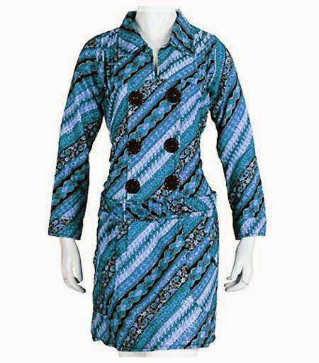 Desain Baju Batik Unik: 10 Baju Batik Wanita Modern Lengan Panjang, Desain Unik