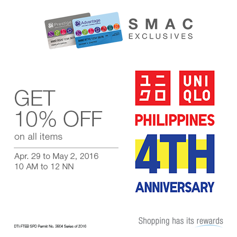 The Budget Fashion Seeker - UNIQLO 4th Anniv SM Advantage Promo