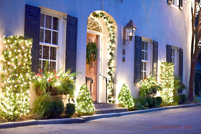 Southern Front Porch Holiday Design and Decor with Lights