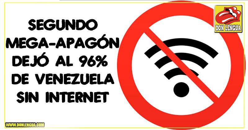 96% de Venezuela sin Internet tras este nuevo Mega-Apagón