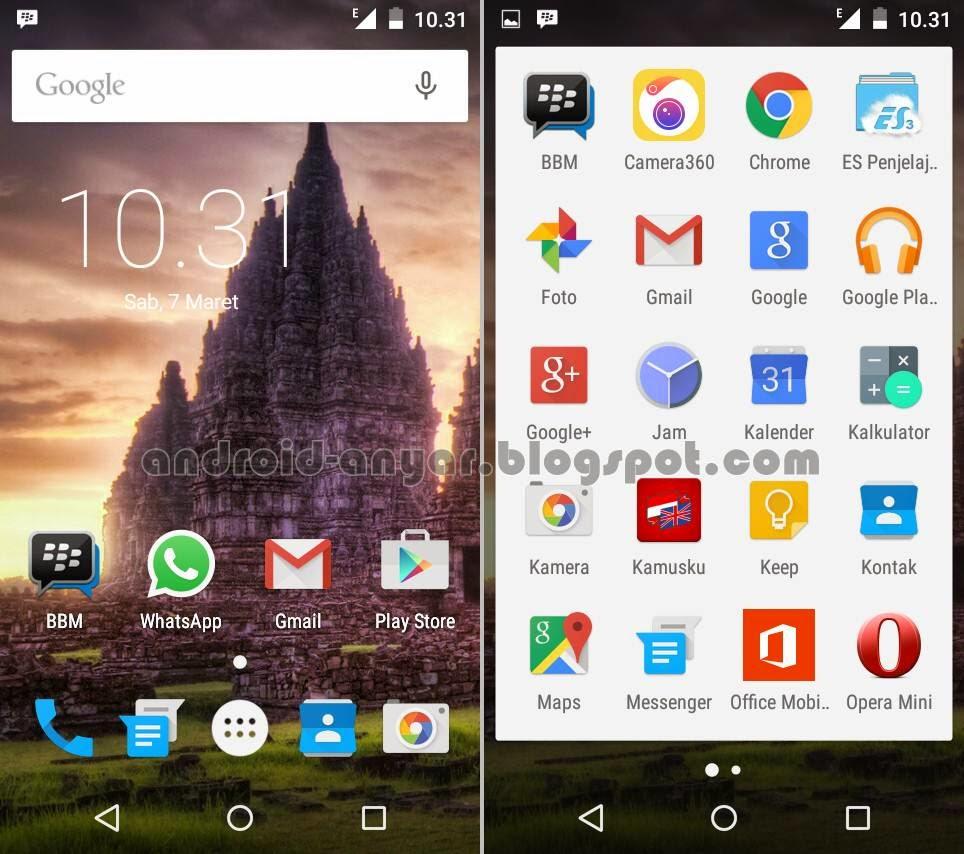 Screenshot Home dan App Drawer Nexian Journey One