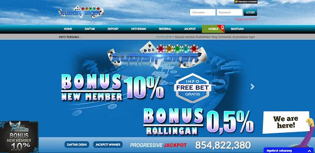 freebet bonus new member 10% special dari audisipoker