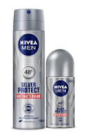 Desodorante Nivea Men Silver Protect Antibacteriano Spray e Roll On