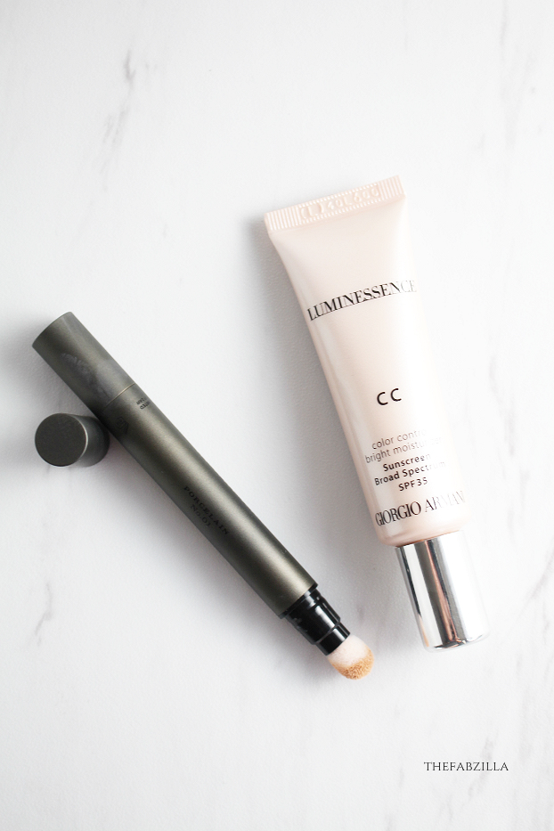 giorgio armani luminessence cc cream review, burberry cashmere concealer review