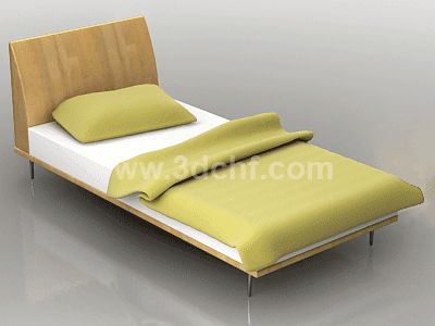 single bed 3d