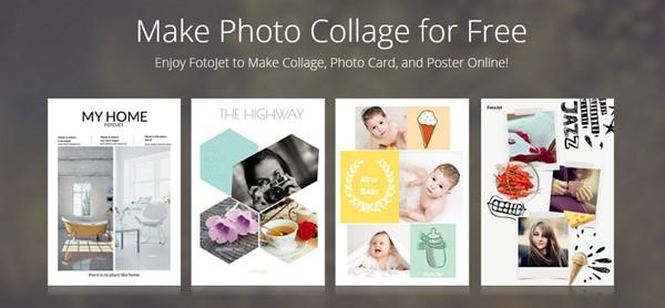 collage photo gratuit en ligne et sans abonnement