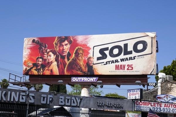 Solo Star Wars billboard
