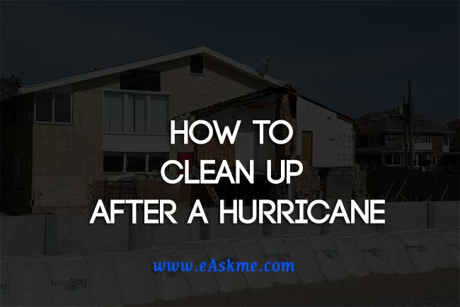 How to Clean Up After a Hurricane: eAskme