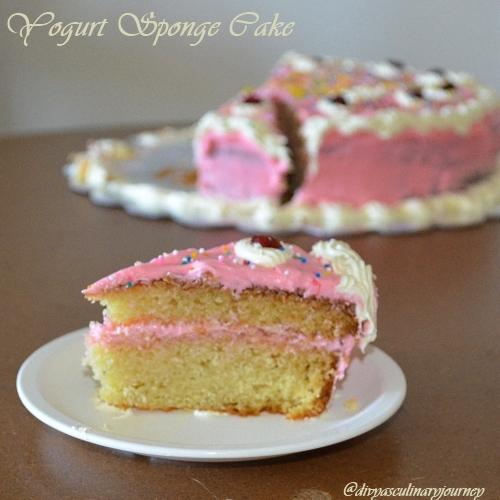 Divya S Culinary Journey Yogurt Sponge Cake Birthday