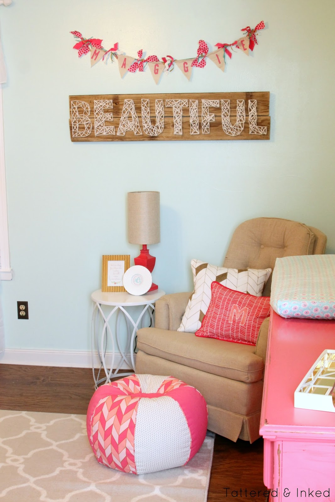 Tattered And Inked Glamorous Gold Amp Pink Nursery Reveal