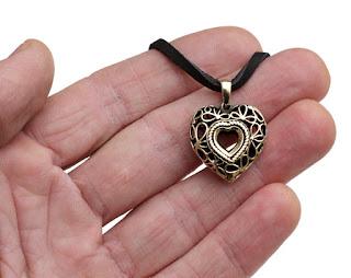 подвеска большая сердце ажурное сердечко из бронзы украшение в подарок девушке