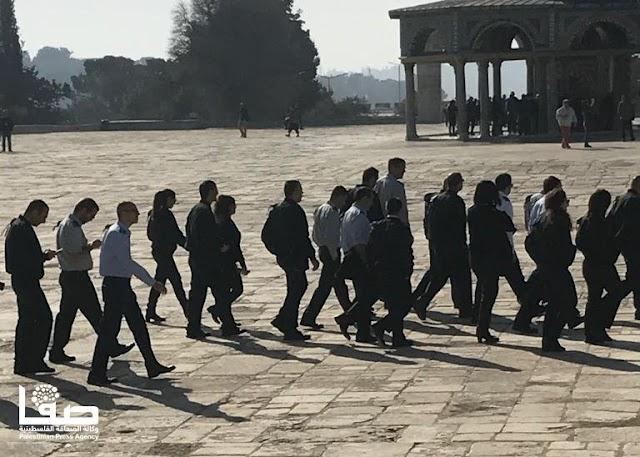 85 مستوطنًا يهوديًا  يقتحمون المسجد الأقصى المبارك