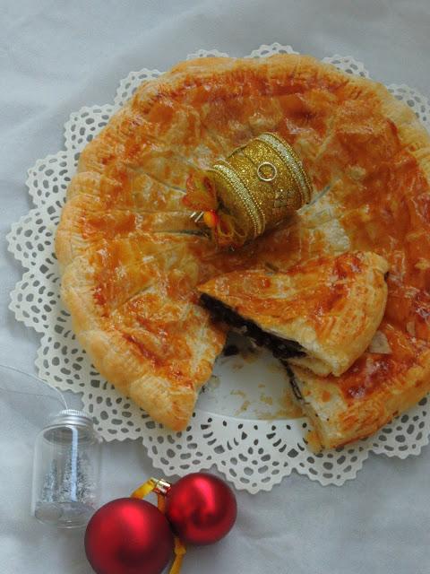 Mocha Frangipane King's Cake