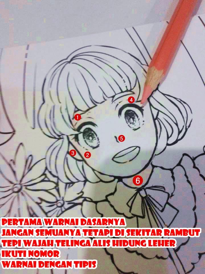 Jovannie Blog S Cara Mewarnai Wajah Dan Rambut Menggunakan Pensil Warna