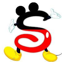 Original alfabeto inspirado en Mickey Mouse S.