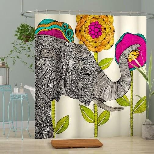 Mellott Aaron Single Shower Curtain