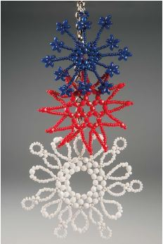 How To Make A Seed Bead And Wire Snowflake The Beading
