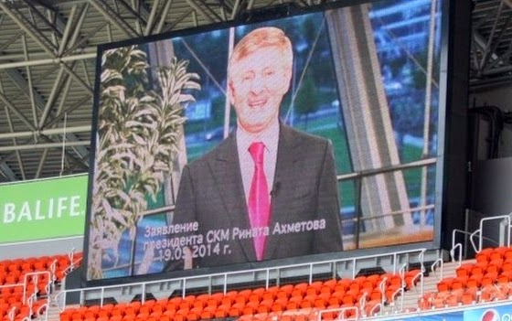 Rinat Akhmetov dirigida simpatizantes com uma mensagem de vídeo