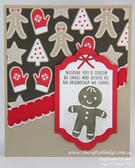 Stampin Up, #thecraftythinker, Cookie Cutter Christmas, masking, #crazycraftersbloghop, card making, Stampin Up Australia Demonstrator, Castle Hill