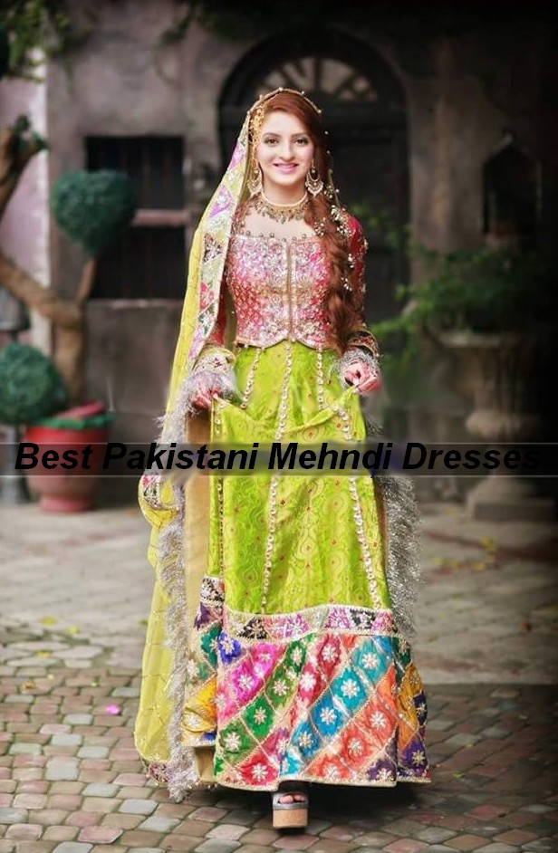 A Few Ladies Adoration To Outfit Splendid And Dinky Shading Mehndi Dresses With Light Cosmetics Shades On Specific Capacity Of Their Wedding