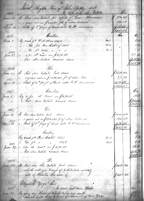 John Spitler Executor's Account, Will Book 37, page 222