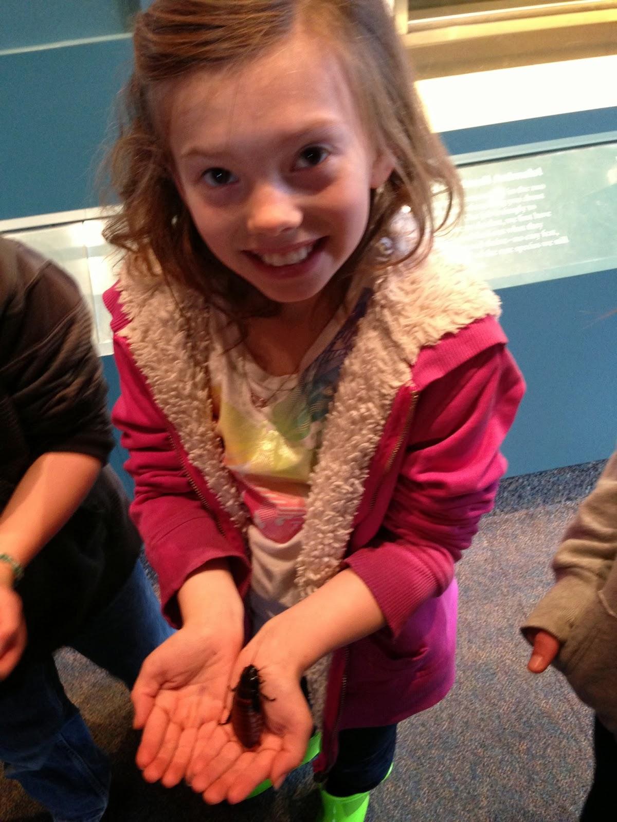 DC natural history museum, girl smiling