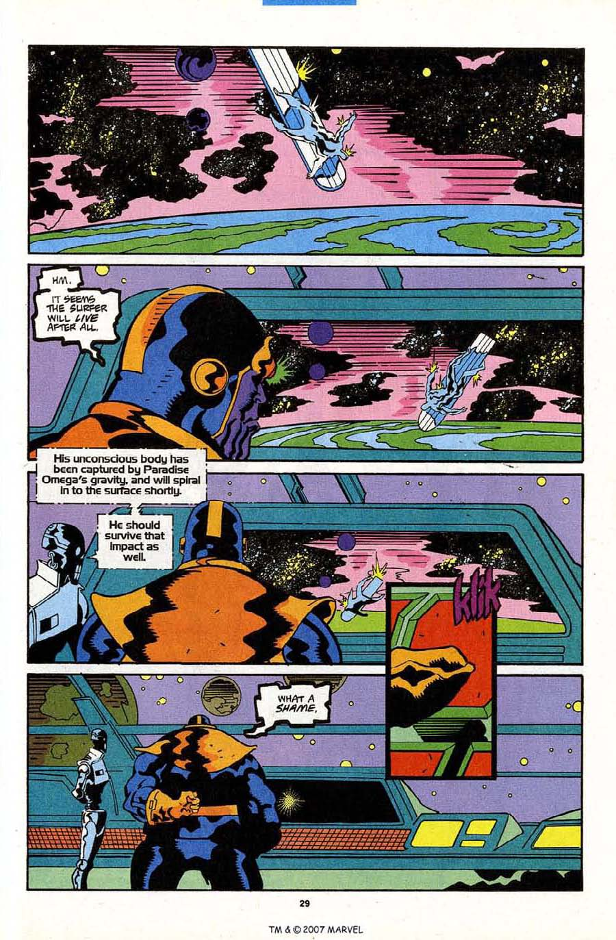 Read online Silver Surfer (1987) comic -  Issue #84 - 31