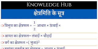maths hindi formulas