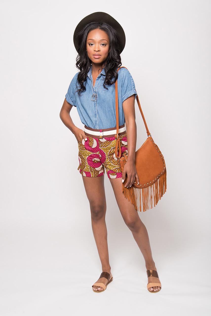 Latest High Waist Ankara Short And Styles
