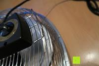 Stufe einstellen: Andrew James großer 45cm Bodenventilator aus Metall – 100 Watt, kraftvoller Luftfluss, 3 Geschwindigkeitseinstellungen und verstellbarer Neigung – 2 Jahre Garantie