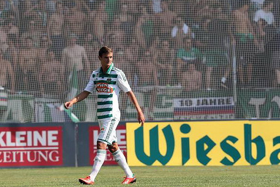 Rapid Vienna player Maximilian Hofmann might want to forget his first league appearance