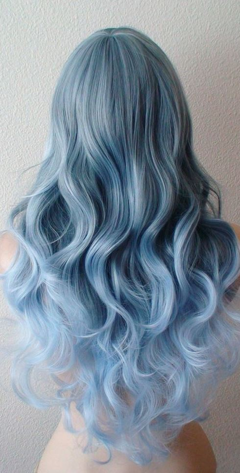 pastel color hairstyle