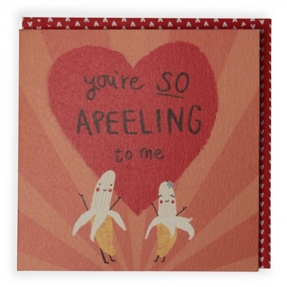 banana valentines card