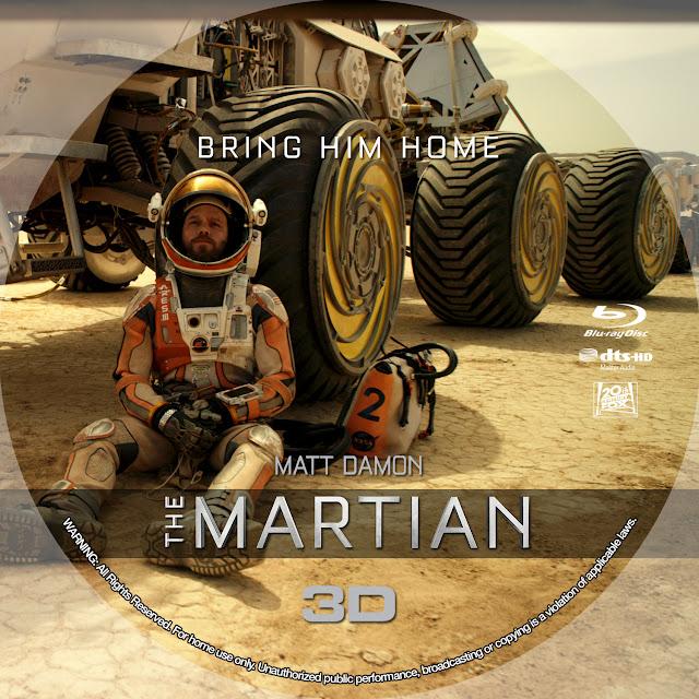 The Martian 3D Bluray Label