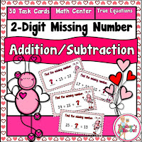 Love Bug Equations using 2-Digit Numbers