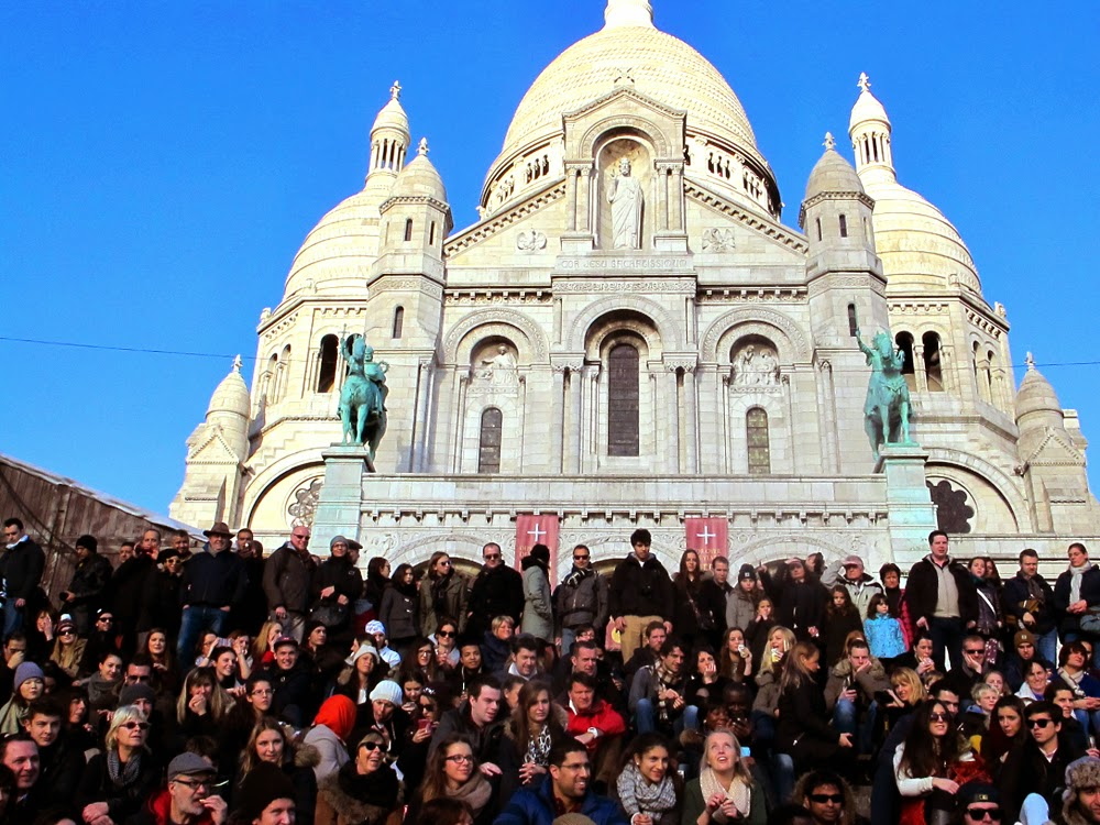 Sacre-Coeur steps, Paris