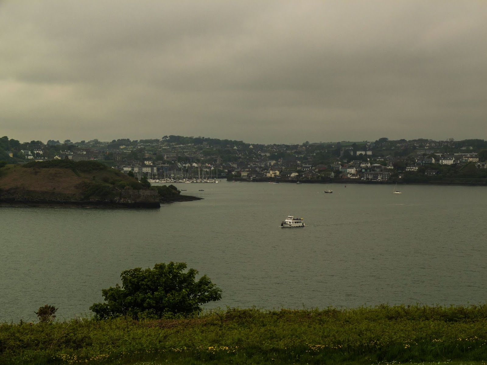 View of the Kinsale Bay from Charles Fort on a grey and gloomy afternoon.