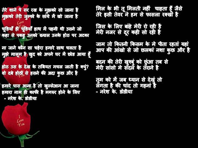 कुछ हिंदी शेर - By  नरेश के. डॉडीया