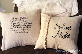 Drop Cloth Pillow Covers by SneakySpoons