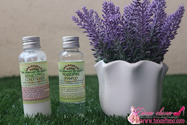 Royal Lotus Conditioner dan fangipani shampoo  Lemongrass House